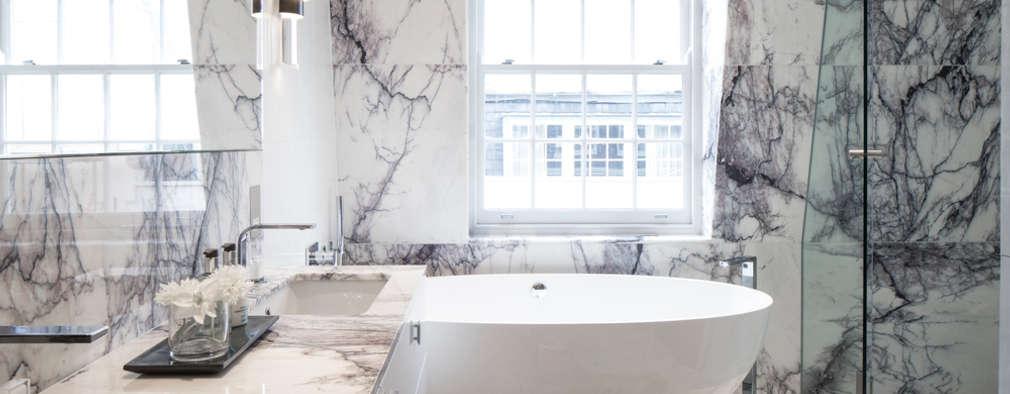 Projekty,  Łazienka zaprojektowane przez Roselind Wilson Design
