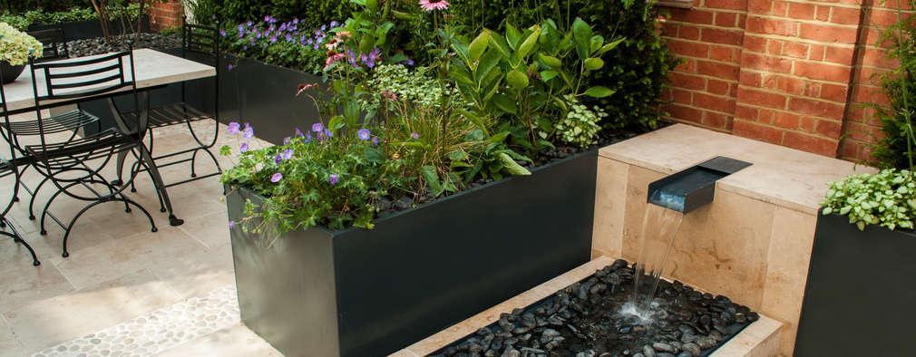 14 fuentes modernas para entradas y patios no muy grandes - Fuente para patio ...