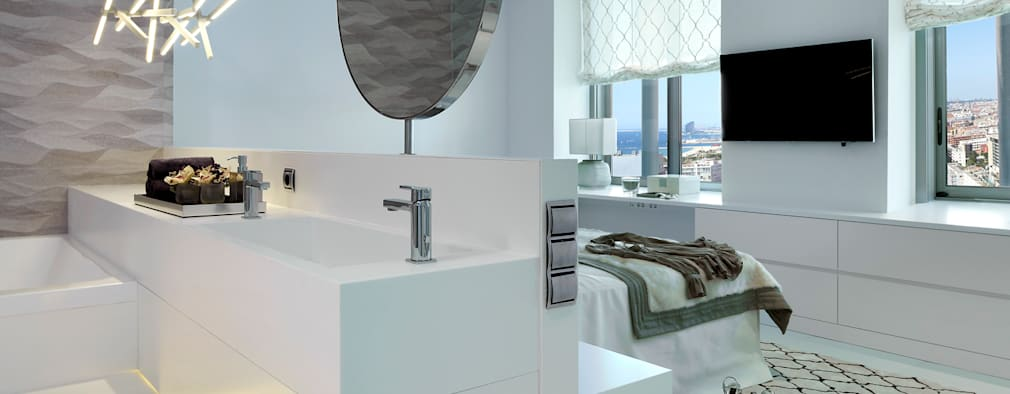 mediterranean Bathroom by Molins Interiors