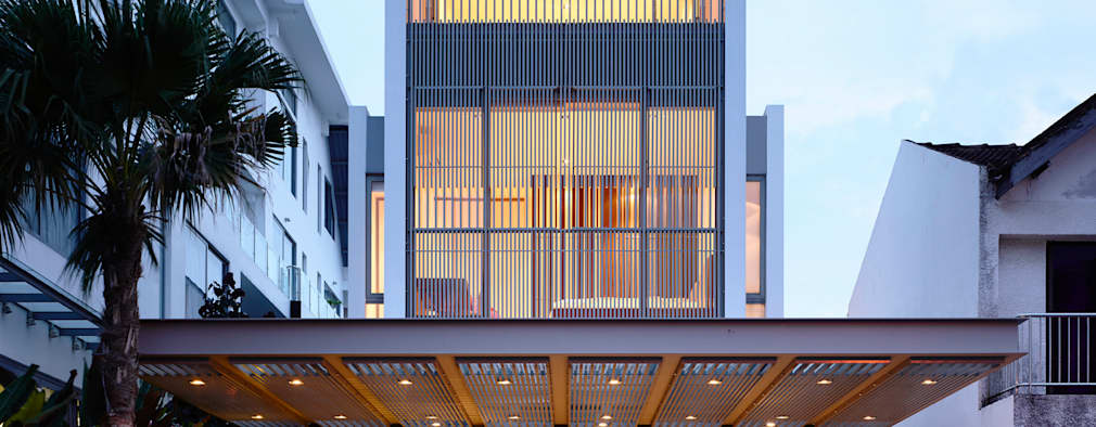 20 ideas de fachadas para una casa moderna for Ideas de casas modernas