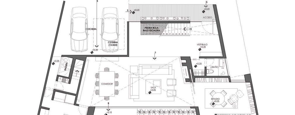 3 casas con alberca y sus planos inspiraci n total for Casa minimalista 300m2