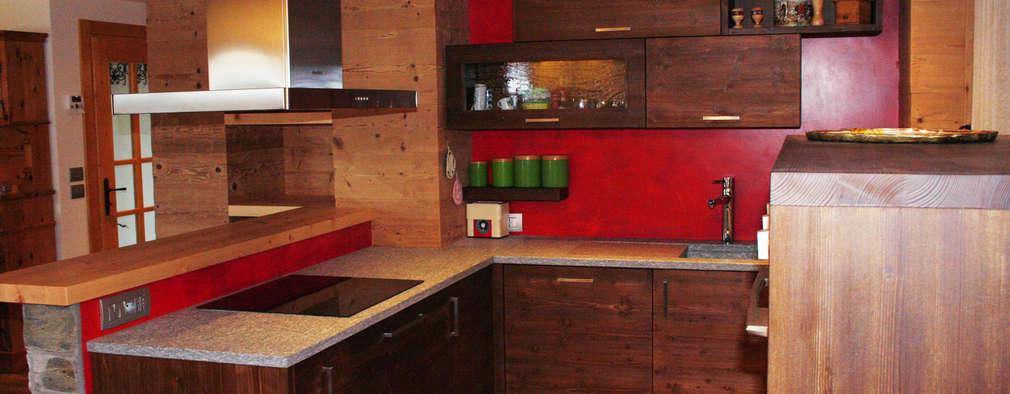 rustic Kitchen by Architetto Stefania Colturi