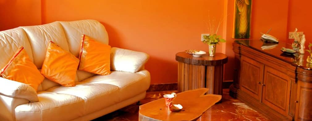 Residence at Andheri: eclectic Living room by Design Kkarma (India)
