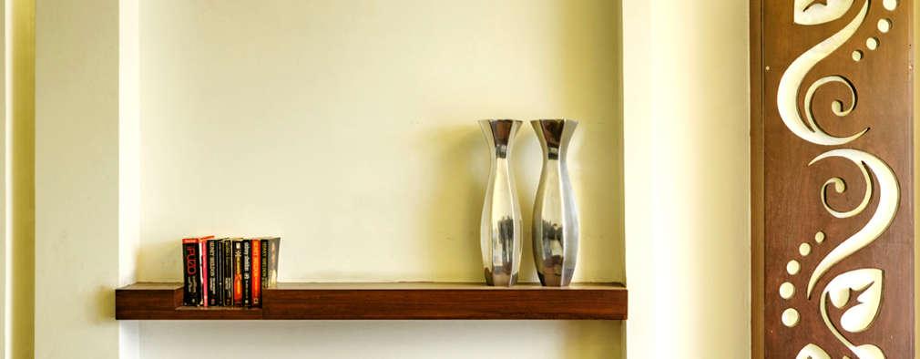 Shelf: minimalistic Houses by Studio An-V-Thot Architects Pvt. Ltd.