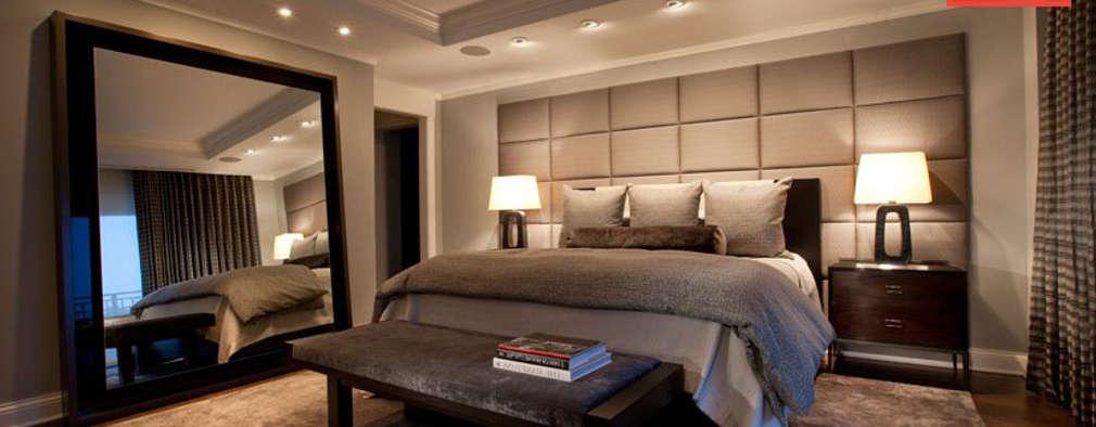 더블 침대가 있는 부부 침실 디자인 6