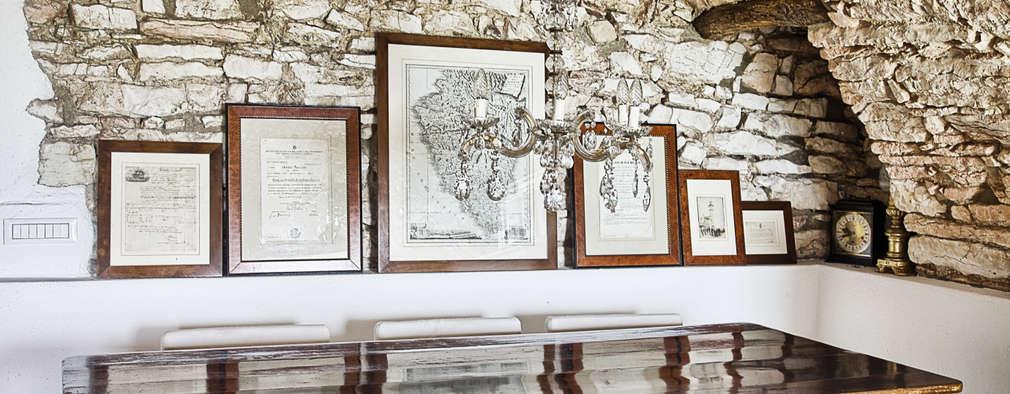 Salas de estilo rústico por STUDIO PAOLA FAVRETTO SAGL - INTERIOR DESIGNER
