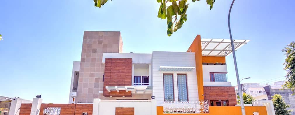 House exterior: modern Houses by Studio An-V-Thot Architects Pvt. Ltd.