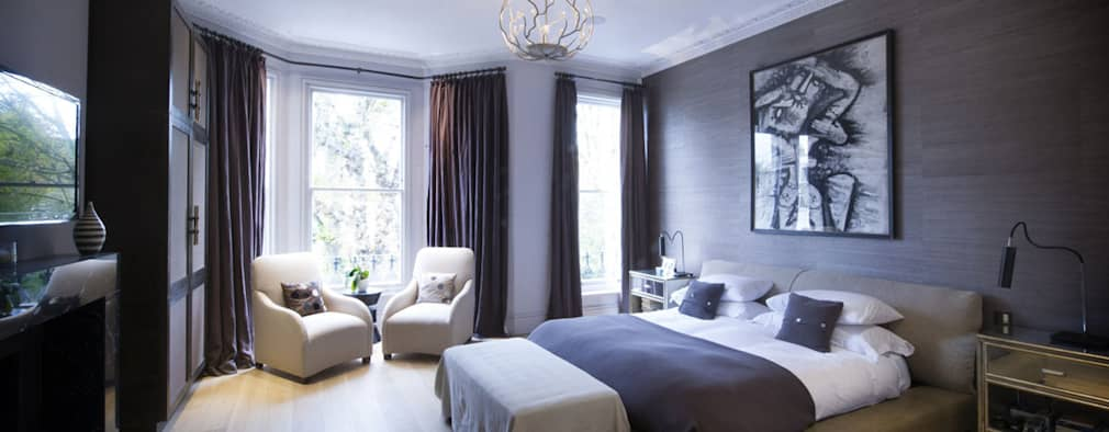 St James's Gardens, London: modern Bedroom by Nelson Design Limited