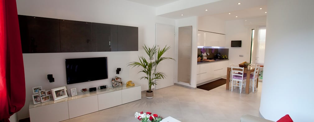 minimalistic Living room by Studio_P - Luca Porcu Design