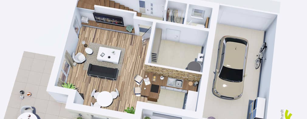 de estilo por elchitekt - Planos De Casas