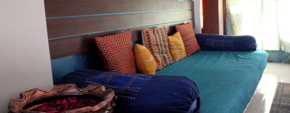 'Indian Baithak':   by kaamya design studio