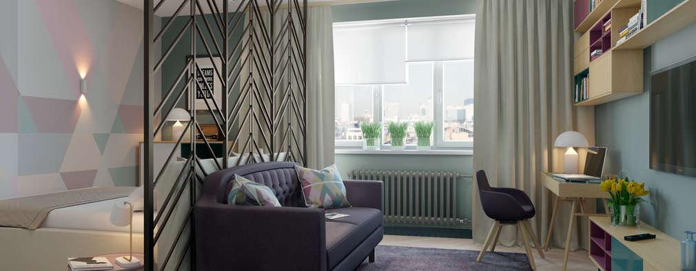 scandinavian Living room by Anna Clark Interiors