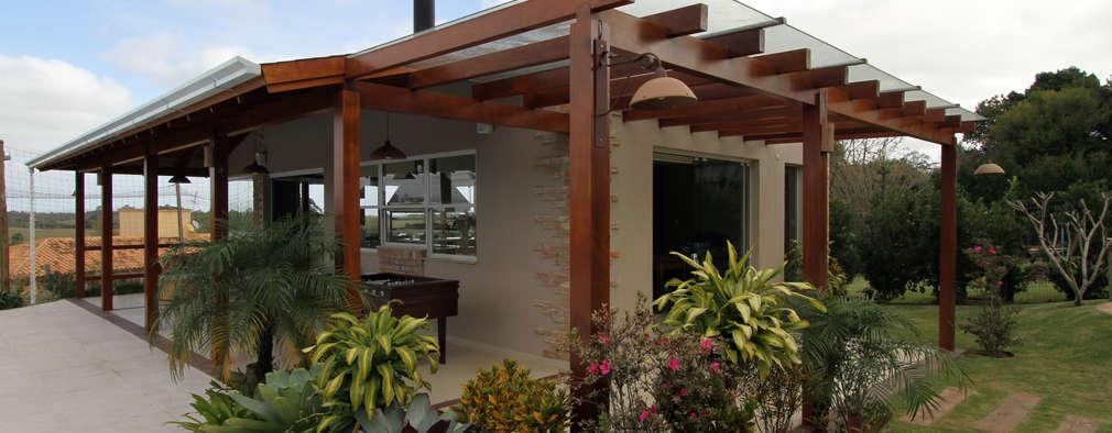 Garages de estilo rústico por Graça Brenner Arquitetura e Interiores
