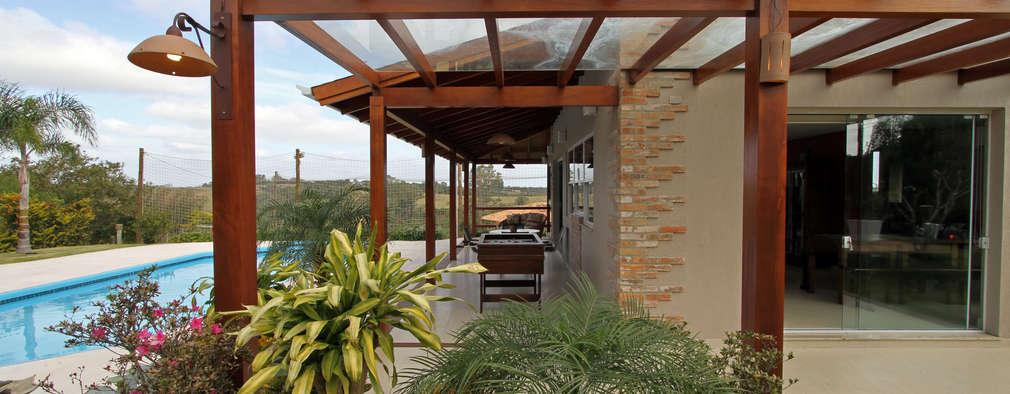 rustic Garage/shed by Graça Brenner Arquitetura e Interiores