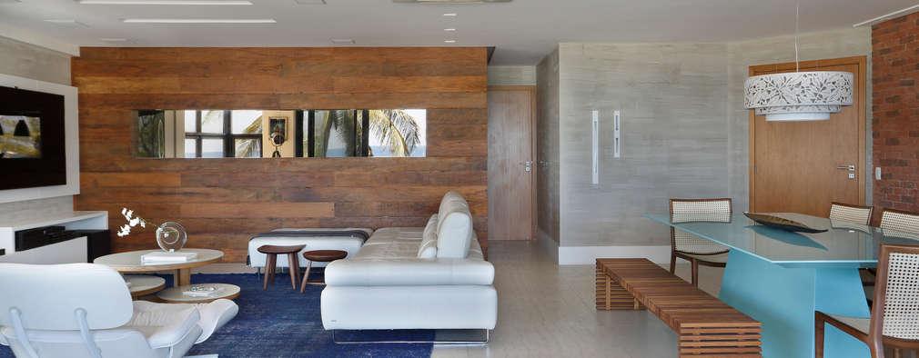 Salas de estar modernas por Leila Dionizios Arquitetura e Luminotécnica