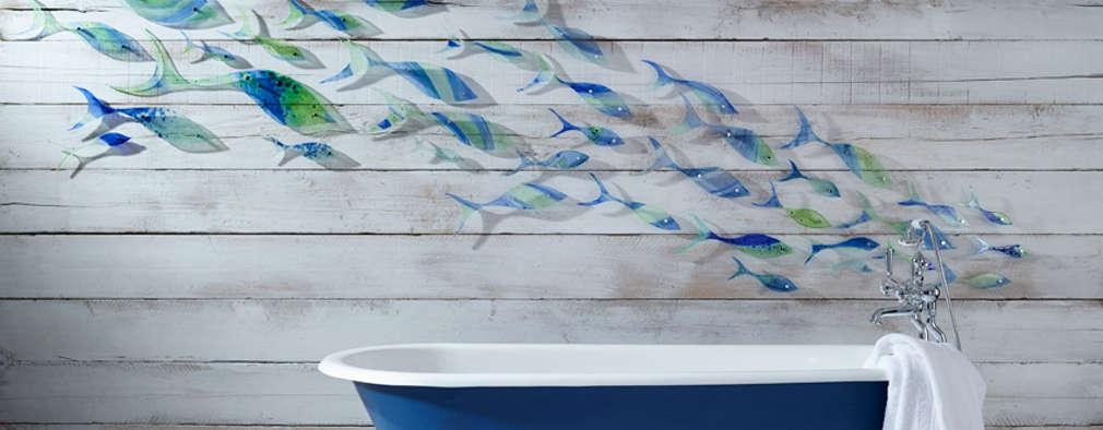 Baños de estilo moderno por Jo Downs