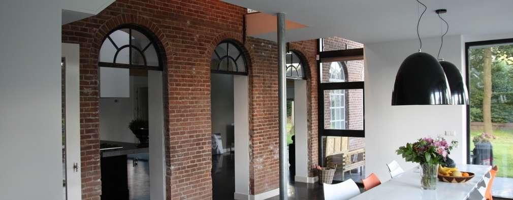 modern Dining room by Architectenbureau Jules Zwijsen