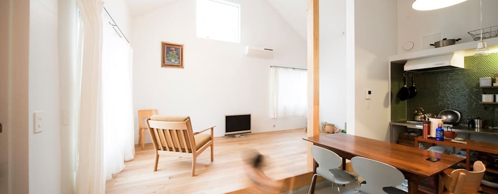 scandinavian Living room by straight design lab