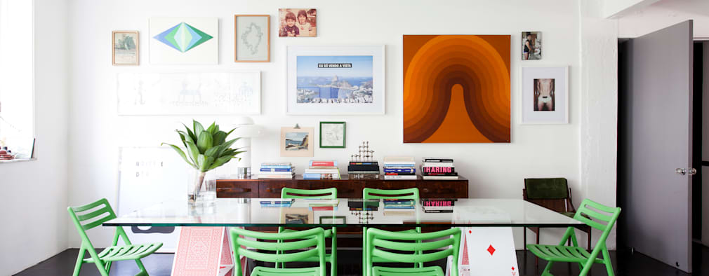 eclectic Dining room by Mauricio Arruda Design