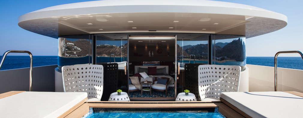 Yates y jets de estilo mediterráneo por CRN SPA - YACHT YOUR WAY-