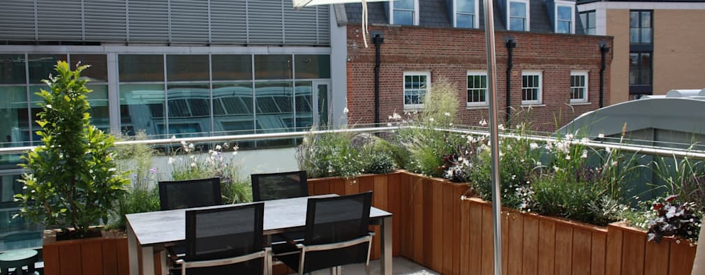 Modern roof terrace: eclectic Garden by Garden Club London