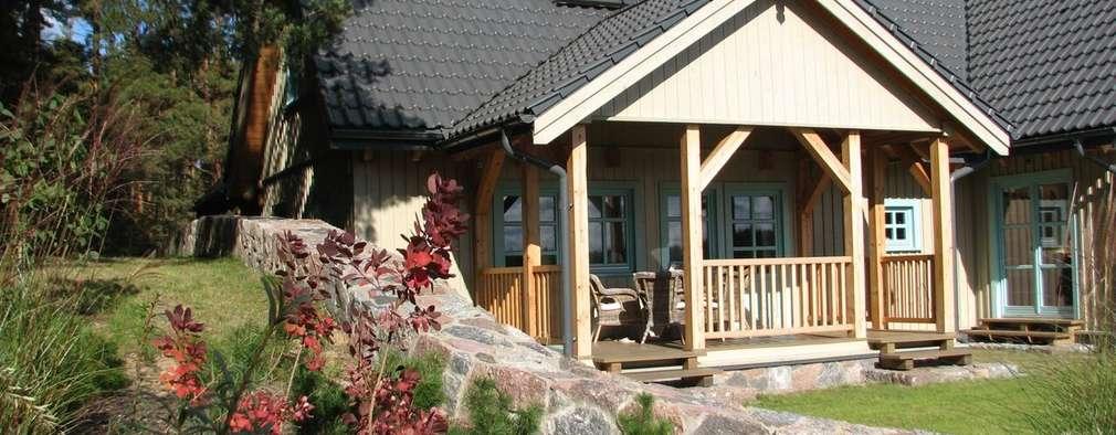 Dom Zelwa: styl rustykalne, w kategorii Domy zaprojektowany przez Pracownia Tutaj