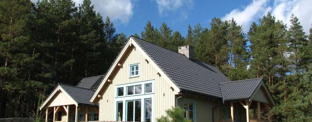 Dom Zelwa: styl wiejskie, w kategorii Domy zaprojektowany przez Pracownia Tutaj