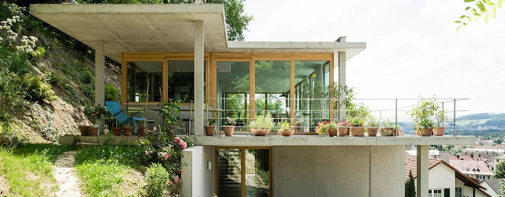 Casas de estilo moderno por GIAN SALIS ARCHITEKT