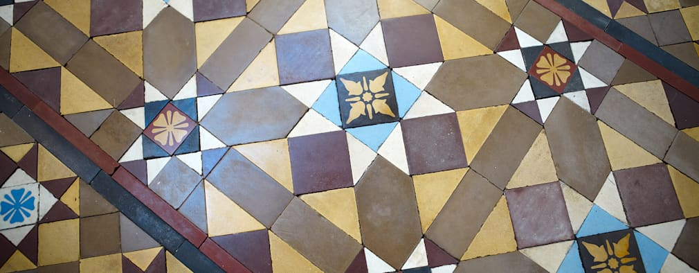 Tiles:   by The Vintage Floor Tile Company