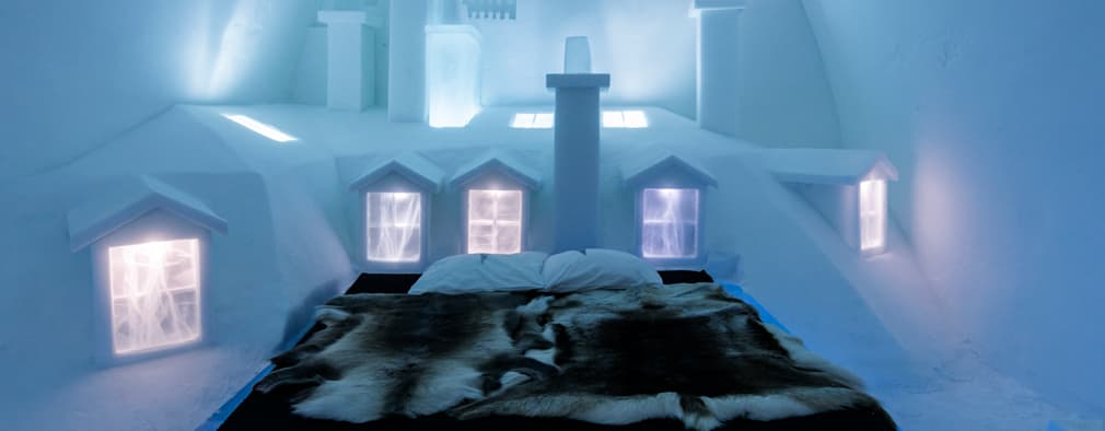 Icehotel, Jukkäsjarvi (Suède):  de style  par ateliers kumQuat