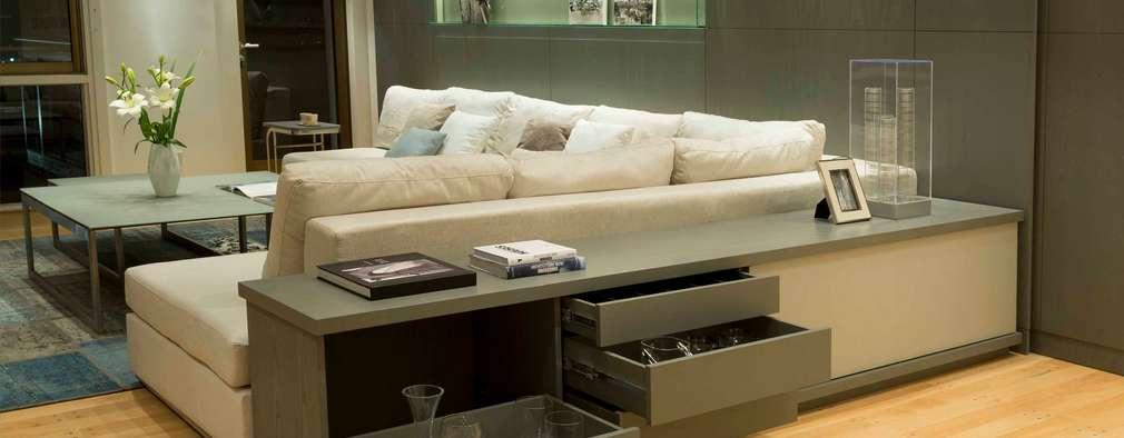 Salas / recibidores de estilo moderno por LIVE IN