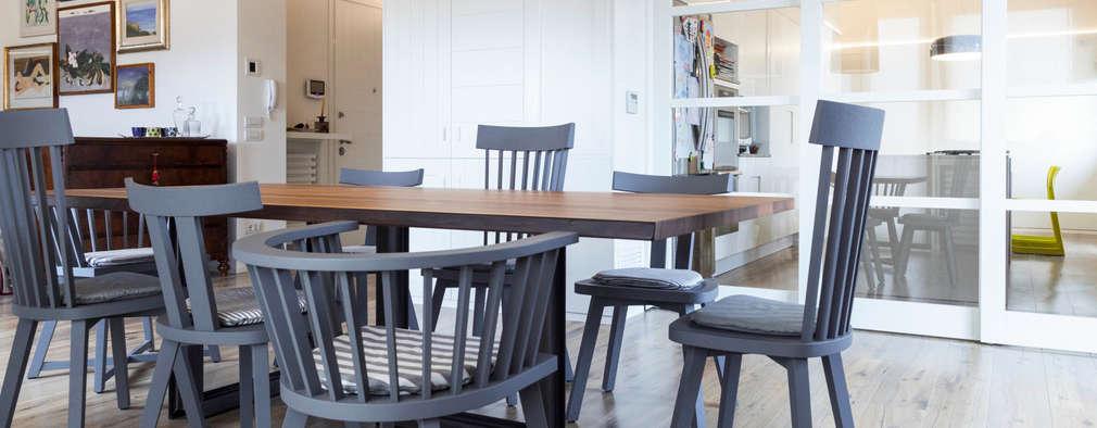 eclectic Dining room by Plastudio