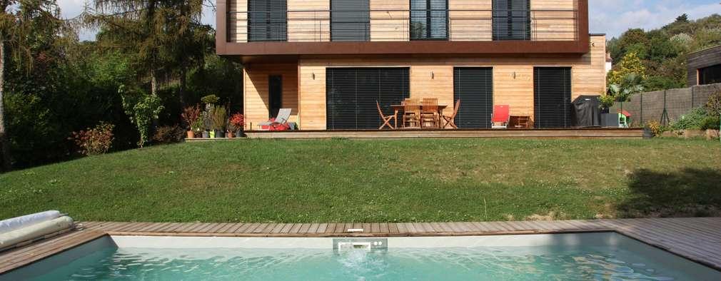 منازل تنفيذ Atelier d'Architecture Marc Lafagne,  architecte dplg