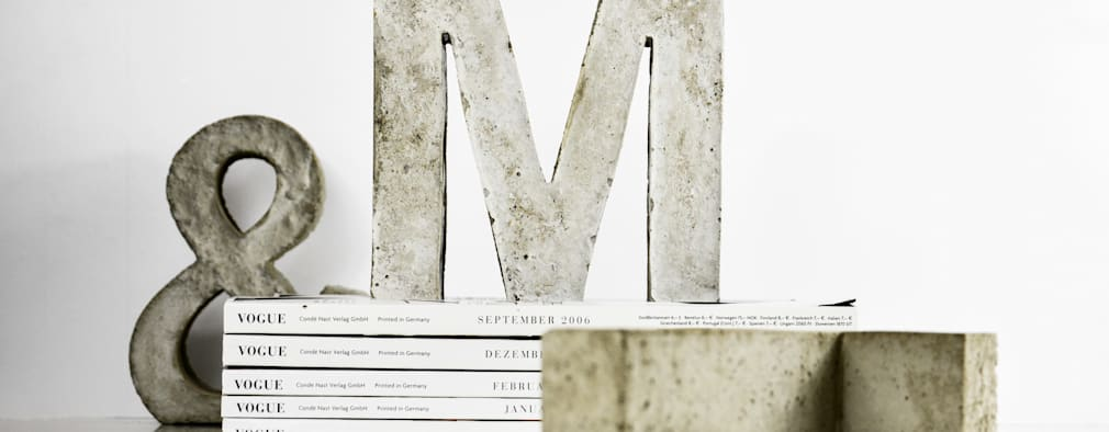 "Betonbuchstabe ""M"":  Kunst  von mx | living"