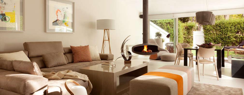 12 salones maravillosos con chimenea que te encantar n - Salones modernos con chimenea ...