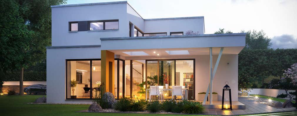 moderne Huizen door Büdenbender Hausbau GmbH