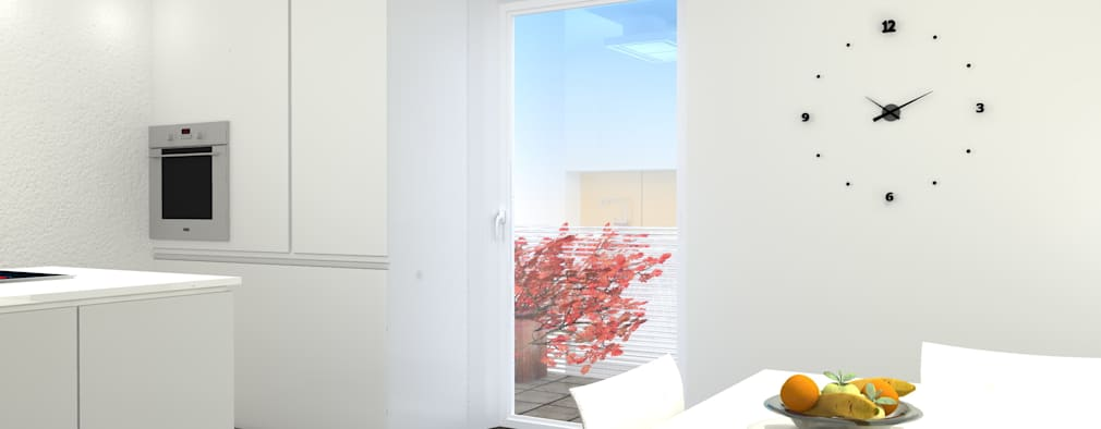 Cocinas de estilo minimalista por Arch. Tommaso Rossi