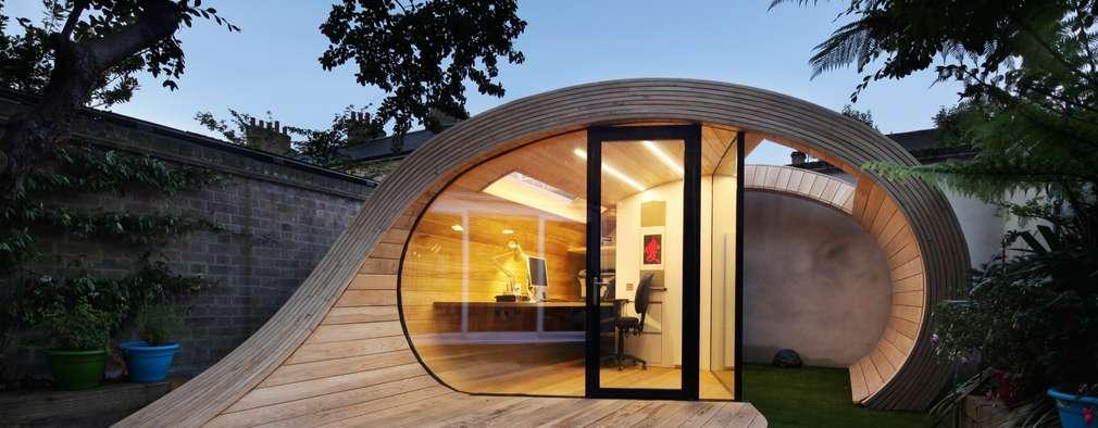modern Garage/shed by Platform 5 Architects LLP