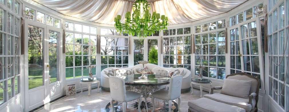 Orkun İndere Interiors: klasik tarz tarz Kış Bahçesi