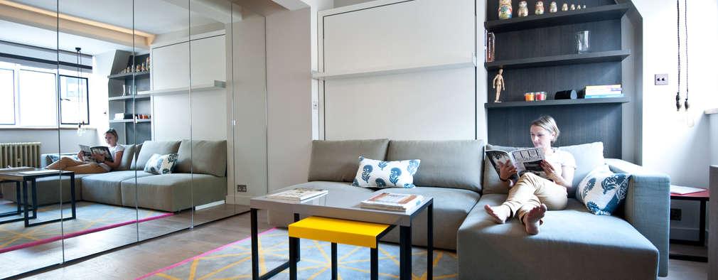 Salas / recibidores de estilo moderno por Black and Milk | Interior Design | London