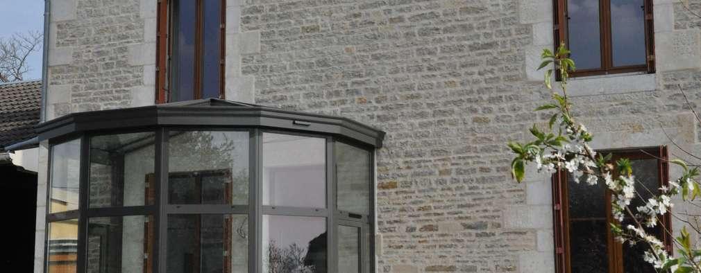 projet façade:  de style  par  Architecte d'Intérieur Paul Jourdain CFAI
