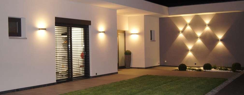 9 ideas muy modernas para iluminar la entrada de tu casa - Entrada de casas modernas ...