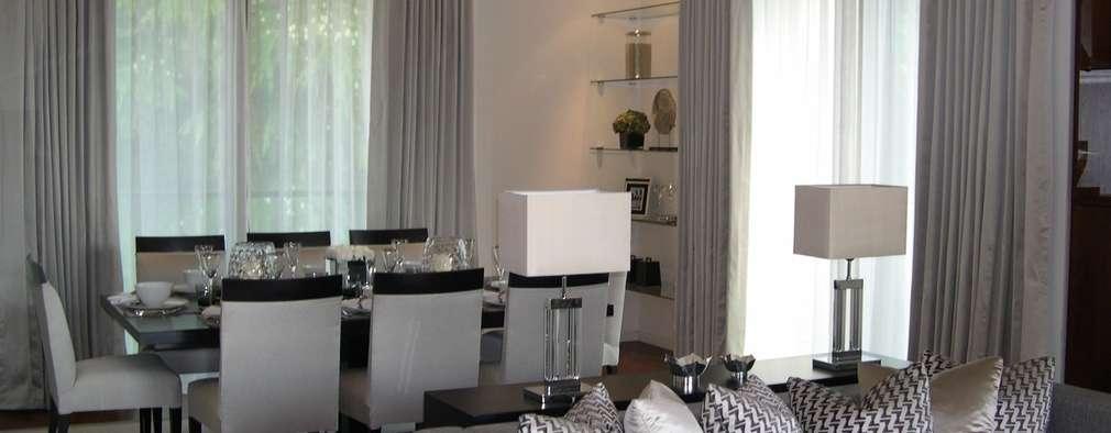 modern Living room by International Soft Furnishers