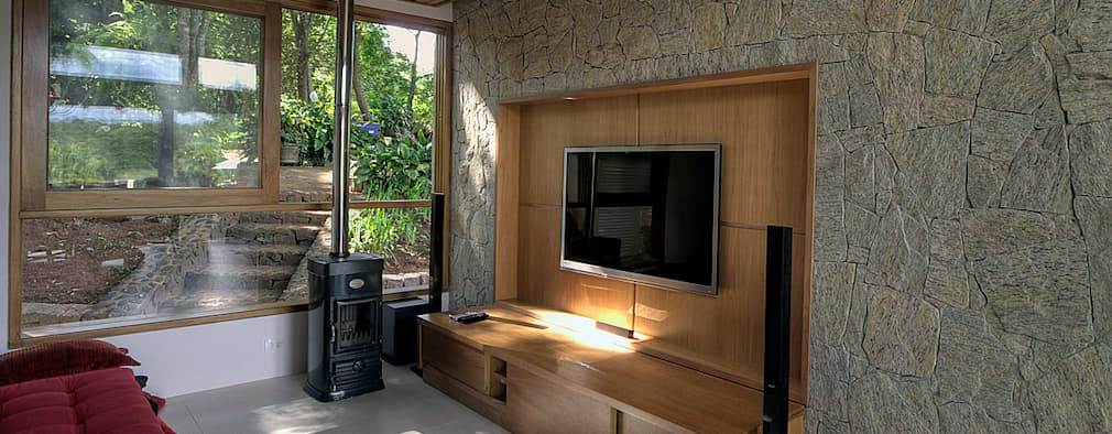 Salas de entretenimiento de estilo  por Olaa Arquitetos