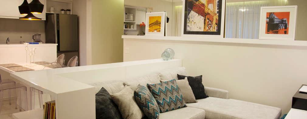 Projekty,  Salon zaprojektowane przez Nataly Aguiar Arq e Interiores