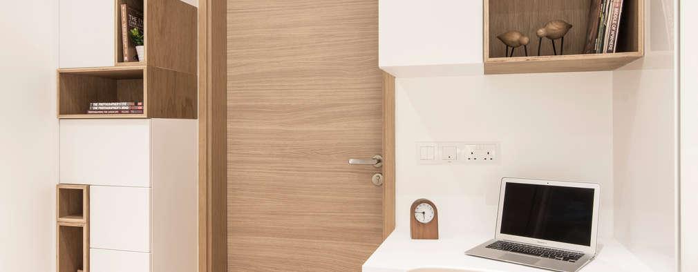 minimalistische Slaapkamer door Eightytwo Pte Ltd
