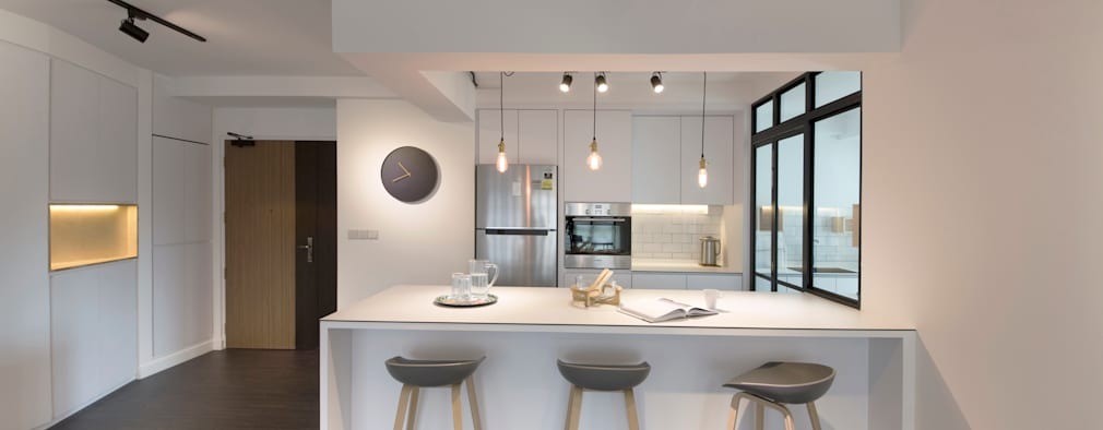 Compassvale Ancilla: modern Kitchen by Eightytwo Pte Ltd
