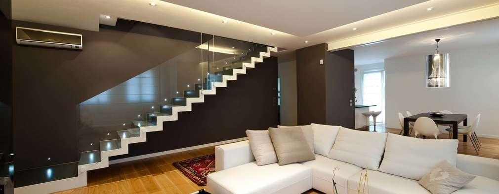 Salas de estar minimalistas por SANSON ARCHITETTI