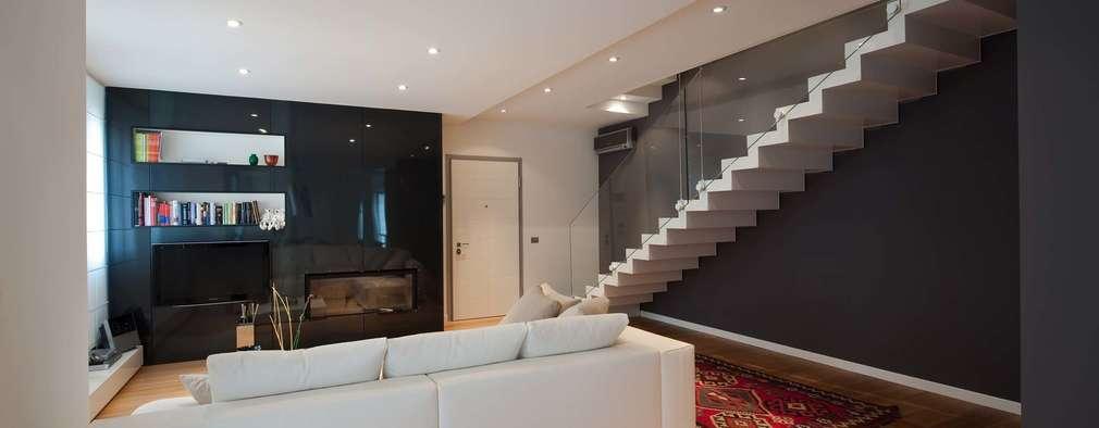 minimalistic Living room by SANSON ARCHITETTI