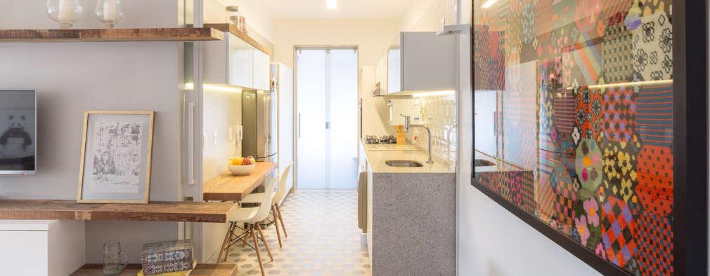 Cocinas de estilo moderno por Semerene - Arquitetura Interior